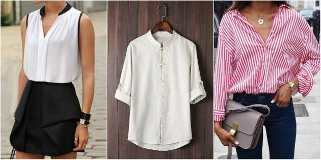 Модная одежда: образы с рубашками