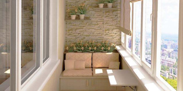 балкон гостиная
