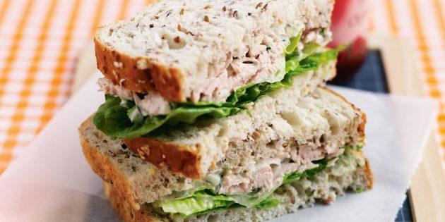 Рецепт сэндвича с тунцом и сельдереем