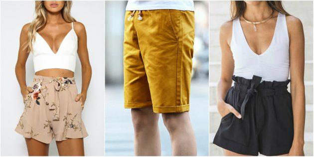 Модная одежда: образы с шортами