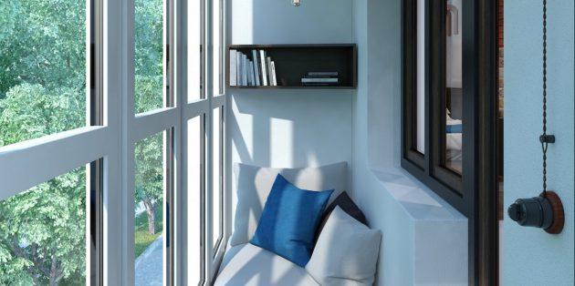 балкон уголок для чтения