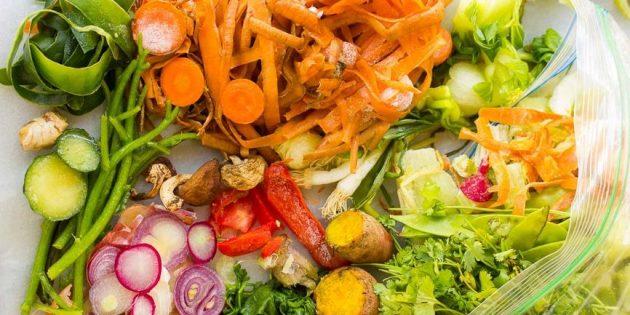 Как приготовить овощной бульон из обрезков