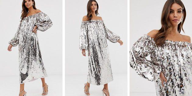 Платье с пайетками от ASOS