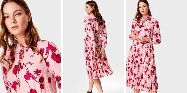 Платье из крепа с цветами от OSTIN