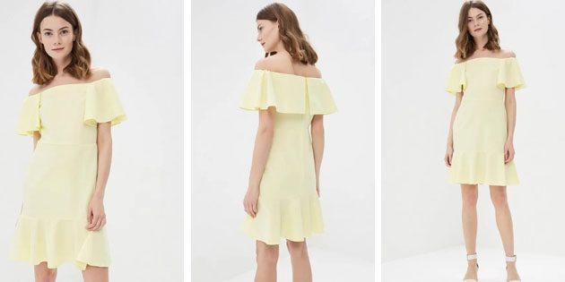 Платье с открытыми плечами от SK House