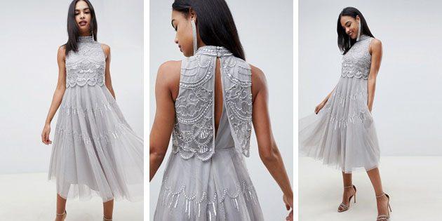 Платье с кроп топом от ASOS