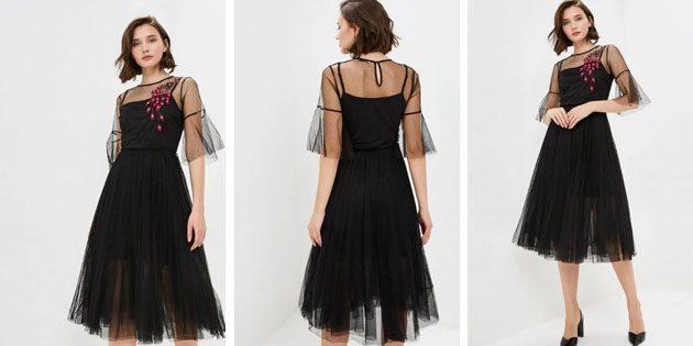 Платье с цветочной вышивкой от Zarina