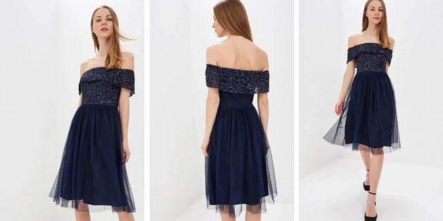 Платье бандо от Dorothy Perkins