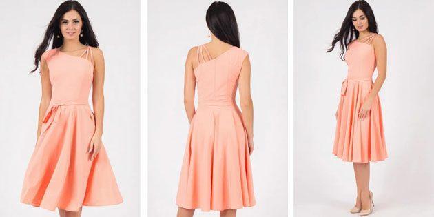 Платье кораллового цвета от Grey Cat
