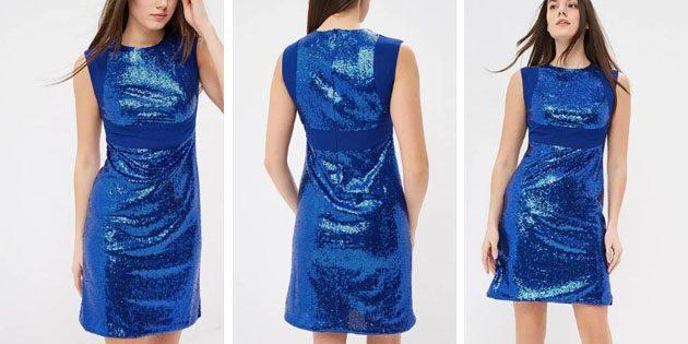 Платье с блестящей отделкой от Gregory