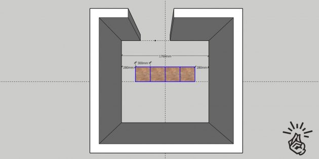 Укладка плитки на пол: предварительная раскладка