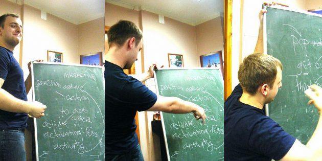 Максим Ильяхов преподает английский