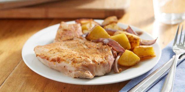 Отбивные из свинины с горчицей