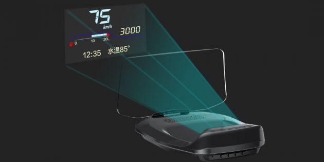 Xiaomi представила автомобильный HUD-проектор с поддержкой Bluetooth