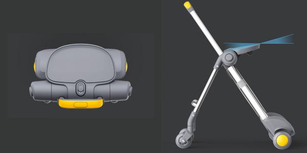 конструкция чемодана-коляски Xiaomi