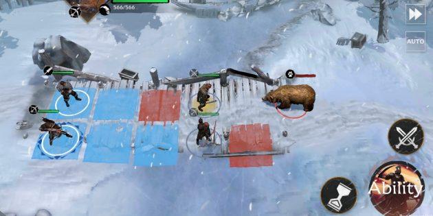 геймплей в мобильной RPG по «Игре престолов»