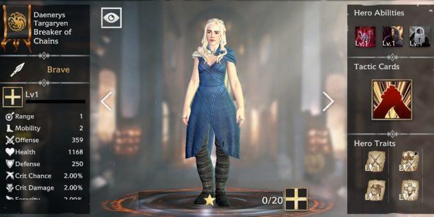 Дейенерис в мобильной RPG по «Игре престолов»