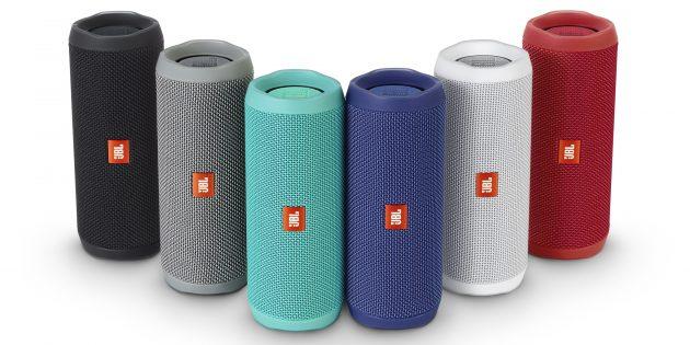JBL Flip 4 доступна в различных цветах