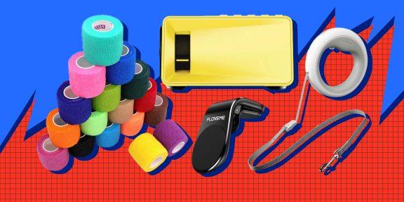 Находки AliExpress: эластичные бинты, портативный проектор и галстук с подсветкой