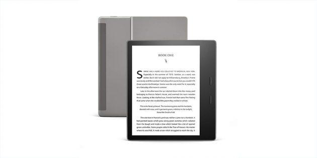 Новая читалка Amazon Kindle Oasis с возможностью настраивать цветовую температуру