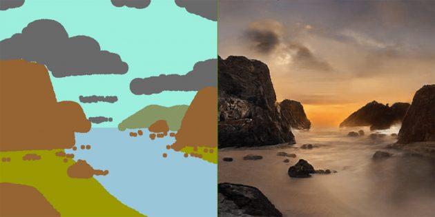 На Android вышло приложение, которое превращает ваши рисунки в фотореалистичные пейзажи