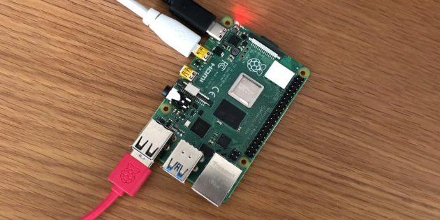 Входы одноплатного компьютера Raspberry Pi 4