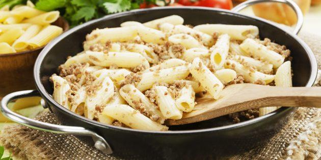 Рецепт макарон по-флотски с варёным мясом