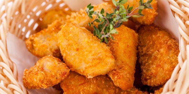 Куриные наггетсы с мёдом, чеддером и пармезаном