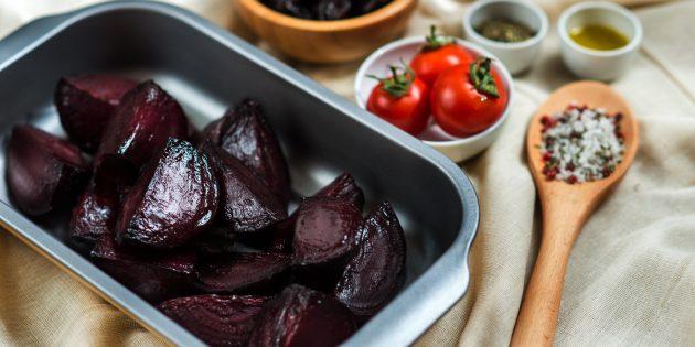 Овощи в духовке: свёкла с глазурью бальзамик