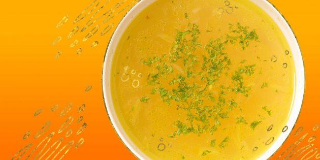 Как приготовить овощной бульон из того, что найдётся на кухне