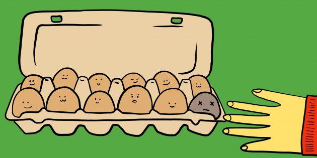 Несвежие яйца