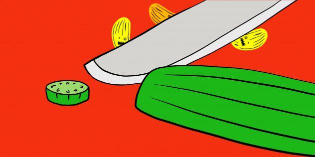 Патогены на ноже