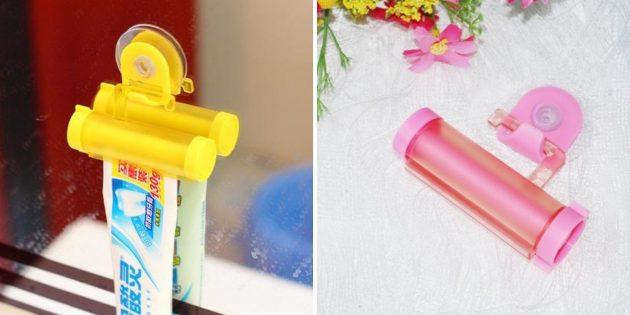 Товары для дома: диспенсер для зубной пасты