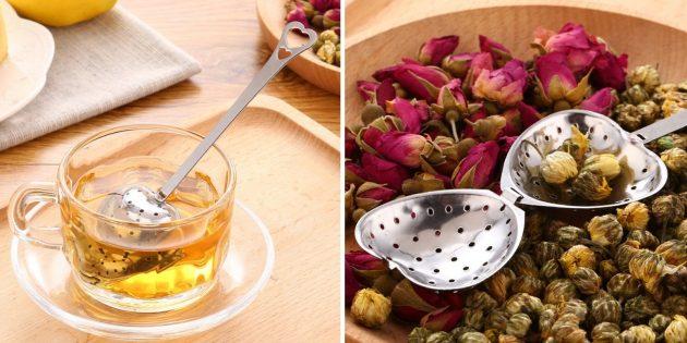 Товары для дома: чайная ложка-ситечко