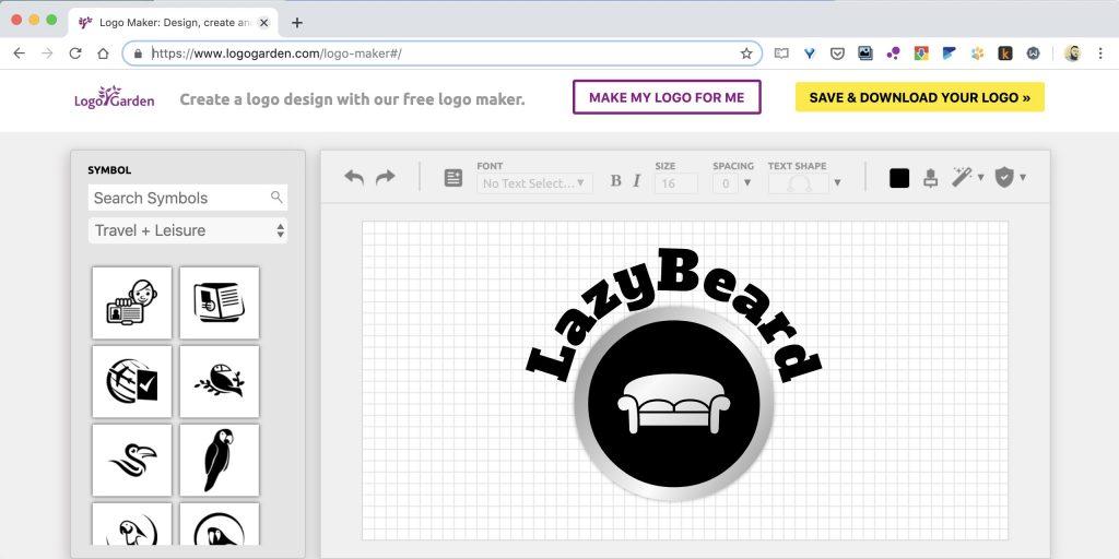 Как создать логотип онлайн на сайте Logo Garden