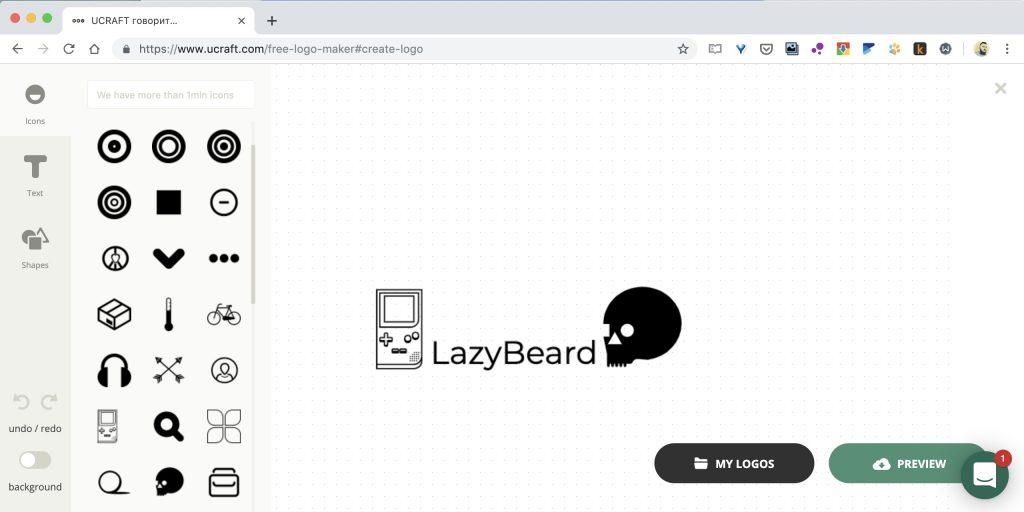 Как создать логотип онлайн на сайте Ucraft