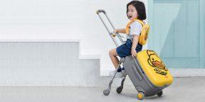 Xiaomi представила чемодан-коляску для путешествий с детьми