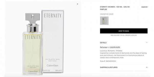 Mainbox: духи Calvin Klein Eternity