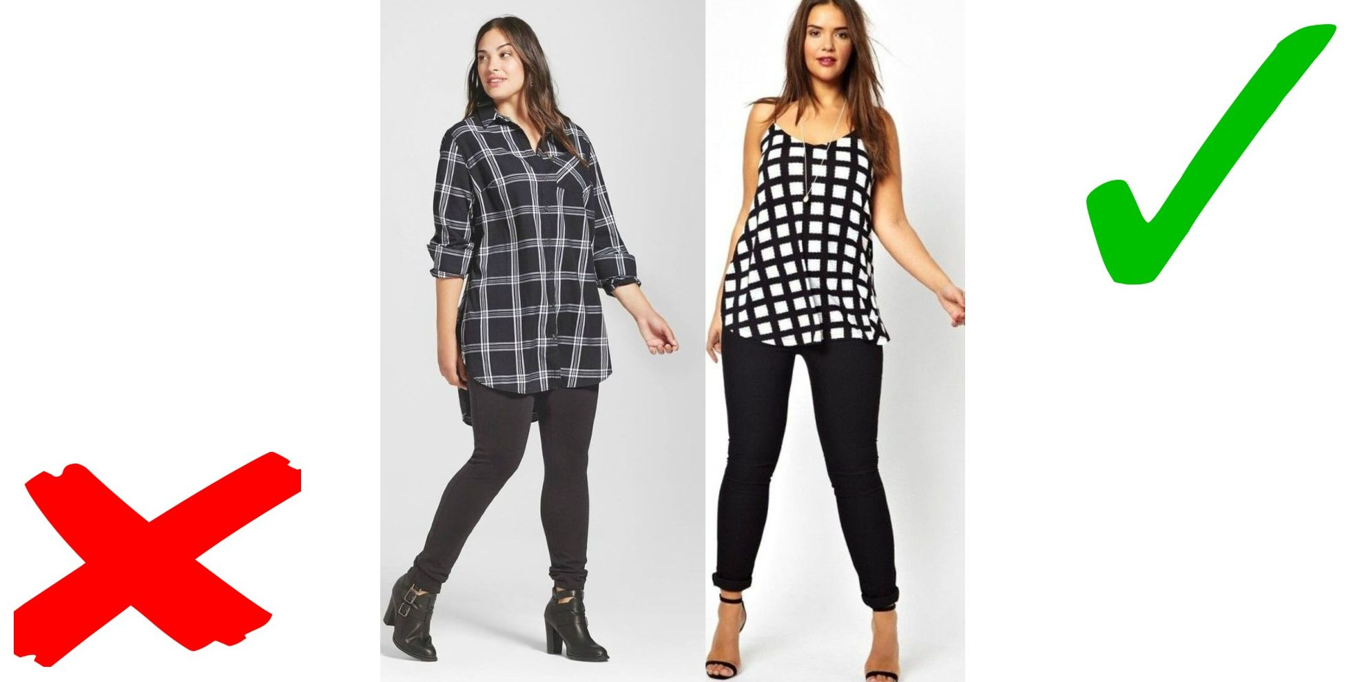Лайфхаки для женщин плюс-сайз: Длинное не носить