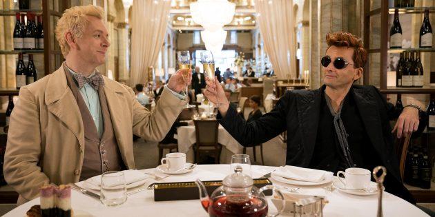В «Благих знамениях» Дэвид Теннант и Майкл Шин отлично удерживают на себе всё внимание