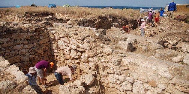 Работа на раскопках