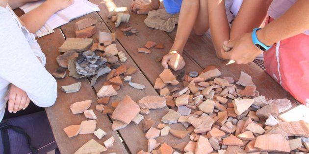 Керамика на раскопках