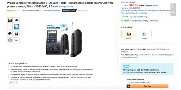 Мобильное приложение Mainbox: электрическая зубная щётка Philips