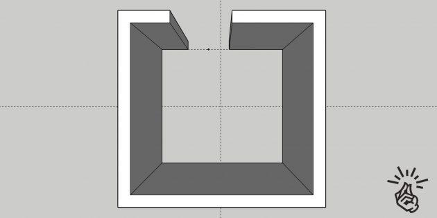 Разметка для прямолинейной укладки плитки на пол
