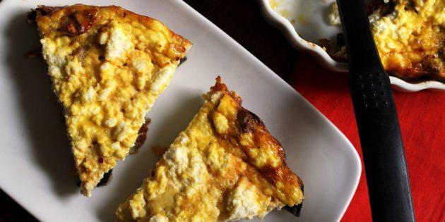 Овощи в духовке: запеканка из баклажанов с черри и рикоттой