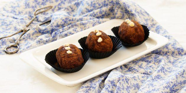 Рецепт пирожного «картошка» с варёной сгущёнкой