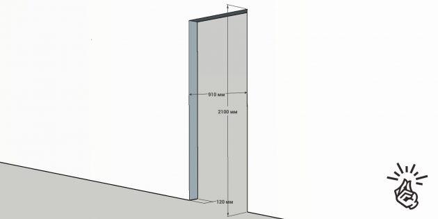 Установка межкомнатных дверей: размер нового полотна