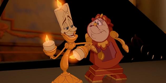 Люмьер и Когсворт из оригинального мультфильма 1991 года