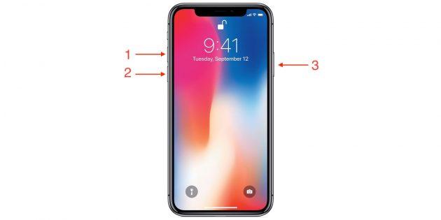 Перезагрузить iPhone, если он завис