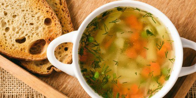Рецепт куриного супа с картошкой и чесноком